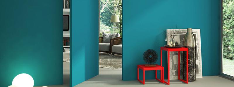Pintura interior Verde Azulado